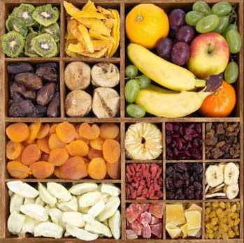 Αποξηραμένα φρούτα με ζάχαρη ή χωρίς ζάχαρη