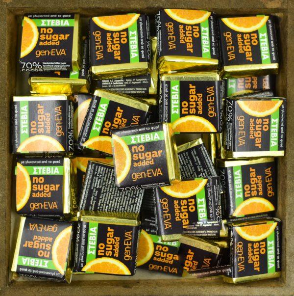 Geneva Σοκολατάκια bitter πορτοκάλι χωρίς ζάχαρη